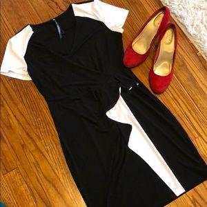 Black & White Dress w/ Ruffle